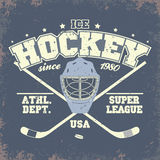 Insigne de hockey sur glace Photographie stock