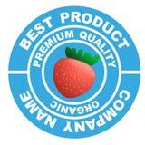 Insigne de la fraise Image libre de droits