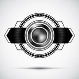 Insigne de la meilleure qualité abstrait noir Image stock
