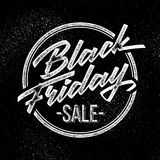 Insigne de lettrage de vente de Black Friday Image stock