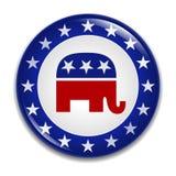 Insigne de logo de Parti Républicain illustration stock