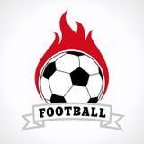 Insigne de logo du football d'isolement sur le fond blanc Image libre de droits