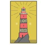 Insigne de phare illustration de vecteur