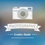 Insigne de photographie de vintage Photos stock