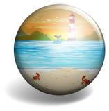 Insigne de plage illustration stock