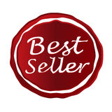 Insigne de rouge du best-seller Images stock