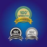 insigne de satisfaction de 100 pour cent Image stock