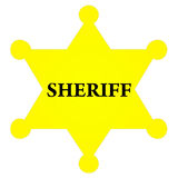 Insigne de shérif Photo stock