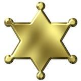 Insigne de shérif Images libres de droits