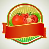 Insigne de tomate illustration stock