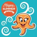 Insigne de vacances d'été Photos stock