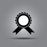 Insigne de vecteur avec l'icône de rubans Photos stock