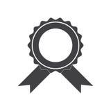Insigne de vecteur avec l'icône de rubans Photos libres de droits