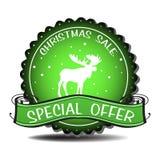Insigne de vente de Noël Images stock