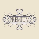 Insigne de vintage Calibre de logo Photographie stock libre de droits