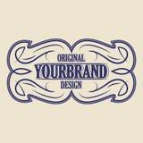 Insigne de vintage Calibre de logo Image libre de droits