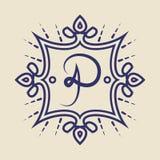 Insigne de vintage Calibre de logo Images stock