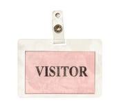 Insigne de visiteur Photo stock