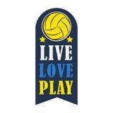 Insigne de volleyball, illustration de vecteur illustration libre de droits