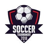 Insigne du football, sport de logo du football illustration libre de droits