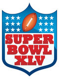 Insigne du Super Bowl XLV 2011 Photo stock