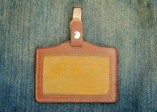 Insigne en cuir Images stock