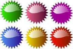 Insigne en forme d'étoile lustré Photographie stock libre de droits