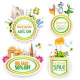 Insigne indien de vente de thème illustration stock
