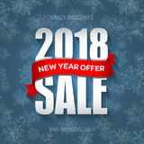 Insigne 2018, label, calibre de vente de nouvelle année de bannière de promo Offre spéciale illustration stock