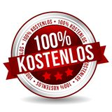 insigne libre de 100% - Allemand-traduction : kostenlos de 100% images libres de droits