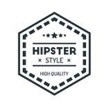 Insigne Logo Design Template Vector Symbol de hippie de vintage d'hexagone Images libres de droits
