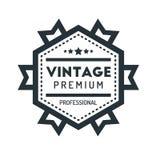 Insigne Logo Design Template Vector Symbol de hippie de vintage d'hexagone Photos libres de droits
