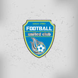 Insigne Logo Emblem Design Templates du football du football Photo libre de droits