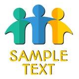 Insigne/logotype de travail d'équipe avec l'ombre Image libre de droits