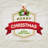 Insigne moderne de Noël Images libres de droits