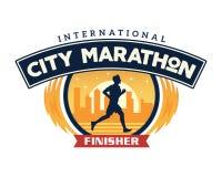 Insigne moderne Logo Illustration de marathon de ville illustration de vecteur