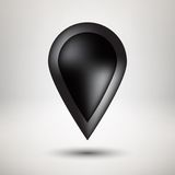 Insigne noir d'icône de bulle avec le fond clair Images stock