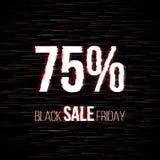 Insigne noir de vente de vendredi avec l'effet de problème illustration de vecteur