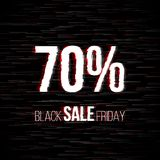 Insigne noir de vente de vendredi avec l'effet de problème illustration stock