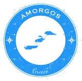Insigne patriotique circulaire d'Amorgos Photo libre de droits