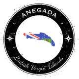 Insigne patriotique circulaire d'Anegada Illustration Libre de Droits
