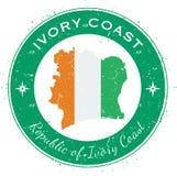 Insigne patriotique circulaire d'Ivoire de ` de Cote D Photographie stock