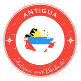 Insigne patriotique circulaire de l'Antigua Photo stock