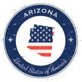 Insigne patriotique circulaire de l'Arizona Images libres de droits