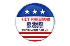 Insigne patriotique : Laissez l'anneau de liberté Images libres de droits