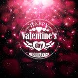 Insigne pour la Saint-Valentin Photographie stock libre de droits