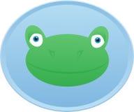 Insigne principal de bouton de grenouille Photographie stock libre de droits