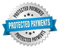 Insigne protégé de paiements illustration de vecteur