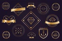 Insigne réglé d'icônes de vecteur de paquet de logo massif Photos libres de droits