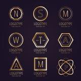 Insigne réglé d'icônes de vecteur de paquet de logo massif Photographie stock